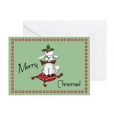 Retro style Dog Christmas Cards
