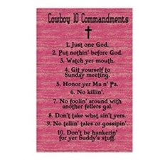 Cowboy 10 Commandments Postcards (Package of 8)