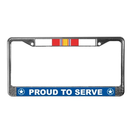 National Defense License Plate Frame