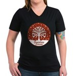 Genealogy Season Women's V-Neck Dark T-Shirt