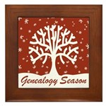 Genealogy Season Framed Tile