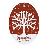 Genealogy Season Oval Ornament