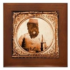 Black Russian BUBBA Framed Tile