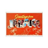 Jamaica Greetings Rectangle Magnet