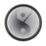Zen Gray Large Wall Clock