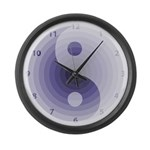 Zen Purple Large Wall Clock