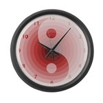 Zen Red Burgundy Large Wall Clock
