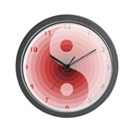 Zen Red Burgundy Wall Clock