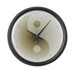 Zen Tan Sand Large Wall Clock