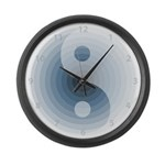 Zen Blue Large Wall Clock