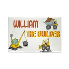 William the Builder Rectangle Magnet