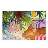 Christmas Cat Postcards (Package of 8)