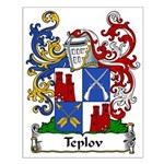 Teplov Family Crest Small Poster