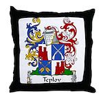 Teplov Family Crest Throw Pillow