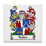 Teplov Family Crest Tile Coaster