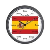 Spanish Large Flag Wall Clock