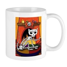 Day of the Dead Skeleton Cat Mug