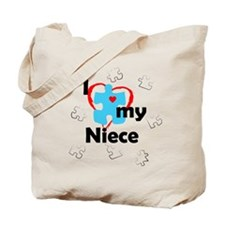 I Love My Niece - Autism Tote Bag