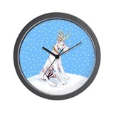 Great Dane Deer White Wall Clock