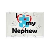 I Love My Nephew - Autism Rectangle Magnet