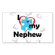 I Love My Nephew - Autism Rectangle Decal