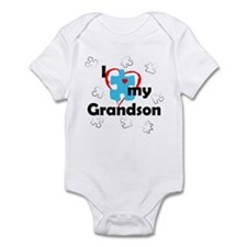I Love My Grandson - Autism Infant Bodysuit