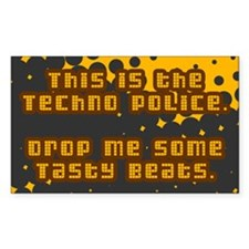 Techno Police Rectangle Decal