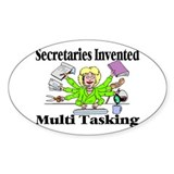 Secretaries Multi Task Oval Sticker (50 pk)