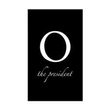 O | the president Rectangle Sticker 10 pk)