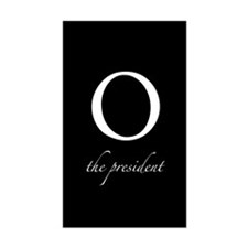 O | the president Rectangle Decal
