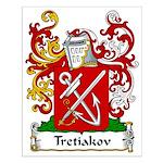 Tretiakov Family Crest Small Poster