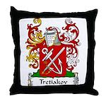 Tretiakov Family Crest Throw Pillow