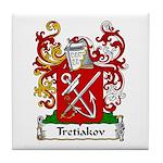 Tretiakov Family Crest Tile Coaster