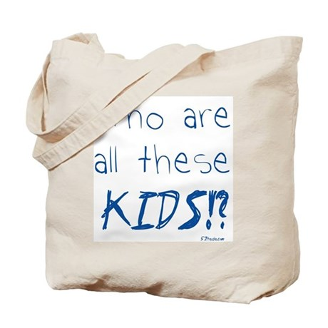 Who are all these kids? Tote Bag
