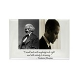 Douglass-Obama Rectangle Magnet (100 pack)