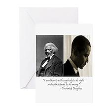 Douglass-Obama Greeting Cards (Pk of 10)