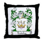 Trotsky Family Crest Throw Pillow