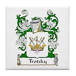 Trotsky Family Crest Tile Coaster