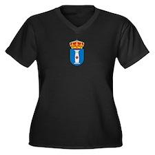Cute Columns Women's Plus Size V-Neck Dark T-Shirt