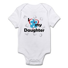 I Love My Daughter - Autism Infant Bodysuit