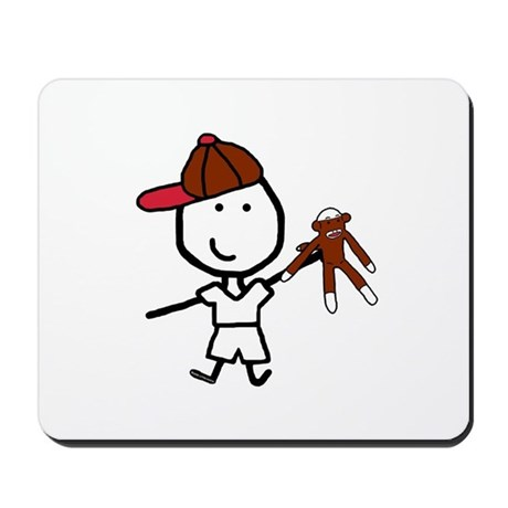 Boy & Monkey Mousepad