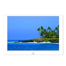 Unique Waimea bay Postcards (Package of 8)
