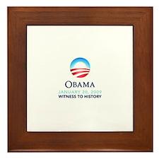 Obama Witness To History Framed Tile