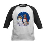 Boxer Dog and Snowman Tee