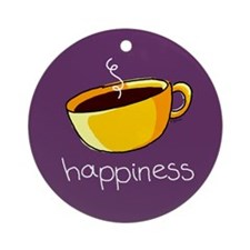 Happiness is Coffee Keepsake (Round)