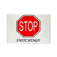 Stop Snitching Rectangle Magnet