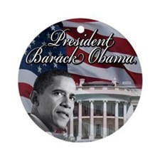 President barack Obama Ornament (Round)