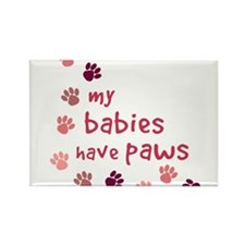 My Babies have Paws Rectangle Magnet (10 pack)