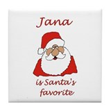 Jana Christmas Tile Coaster