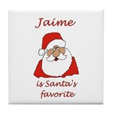 Jaime Christmas Tile Coaster